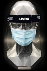 Uvex Medical Face Shield unisize, PC 0,3 mm, PPE cl. 1